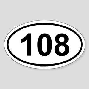 108 Oval Sticker