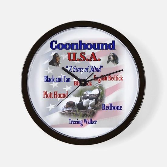 Coonhound USA Wall Clock