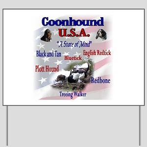 Coonhound USA Yard Sign