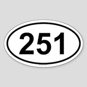 251 Oval Sticker