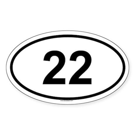 22 Oval Sticker