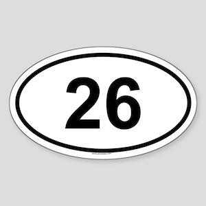 26 Oval Sticker