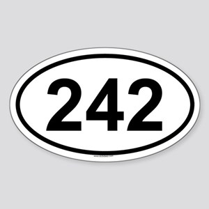 242 Oval Sticker