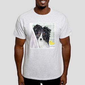 Bi Black Sheltie Bath Light T-Shirt