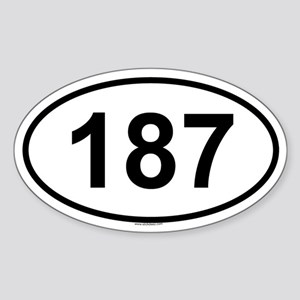 187 Oval Sticker