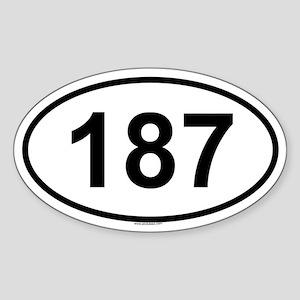 187 Oval Sticker