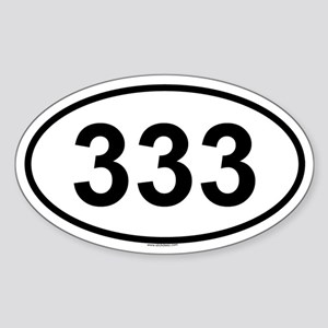 333 Oval Sticker