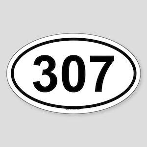 307 Oval Sticker