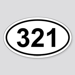 321 Oval Sticker