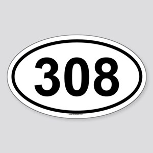 308 Oval Sticker