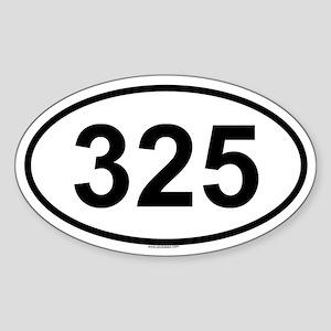 325 Oval Sticker