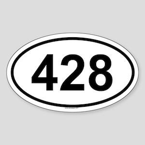 428 Oval Sticker