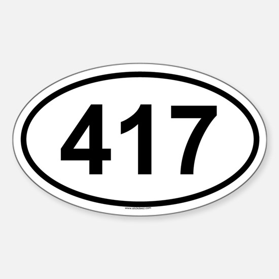 417 Oval Decal