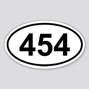 454 Oval Sticker