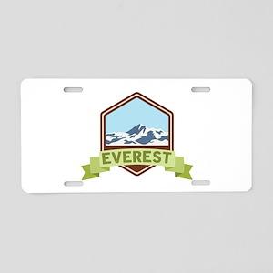 Mount Everest Aluminum License Plate