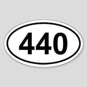 440 Oval Sticker