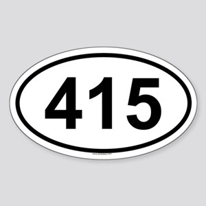 415 Oval Sticker