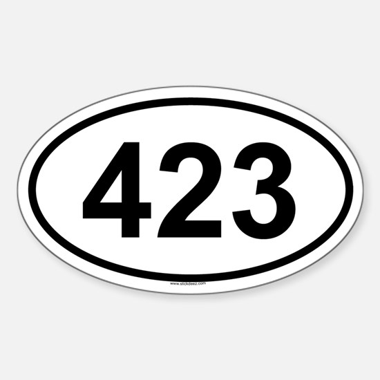 423 Oval Decal