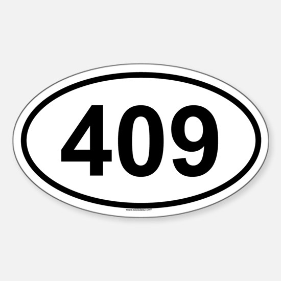 409 Oval Decal