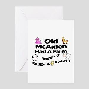 Old McAiden Had a Farm Greeting Card