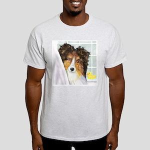 Sable Sheltie Bath Light T-Shirt
