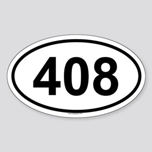 408 Oval Sticker