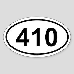 410 Oval Sticker