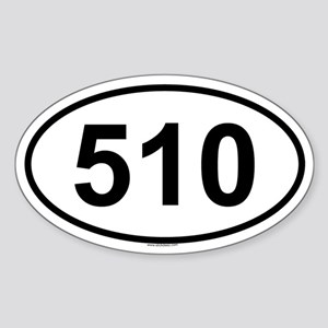 510 Oval Sticker