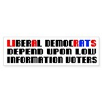 LIBERAL DEMOCRATS DEPEND UPON LOW INFORMATION VOTE