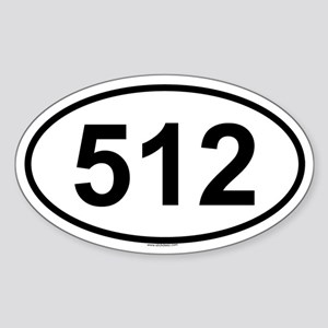 512 Oval Sticker