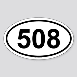 508 Oval Sticker