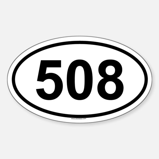 508 Oval Decal
