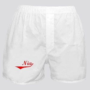 Nia Vintage (Red) Boxer Shorts