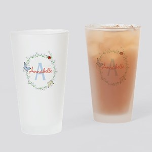 Cute Butterfly Floral Monogram Drinking Glass