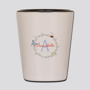 Cute Butterfly Floral Monogram Shot Glass