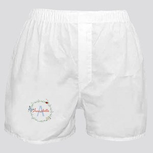 Cute Butterfly Floral Monogram Boxer Shorts