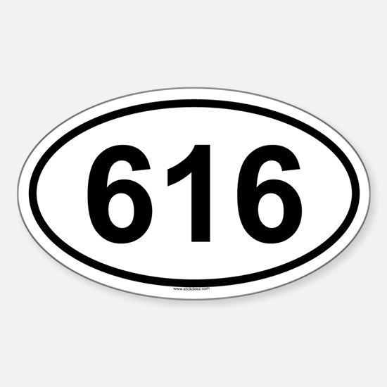 616 Oval Decal