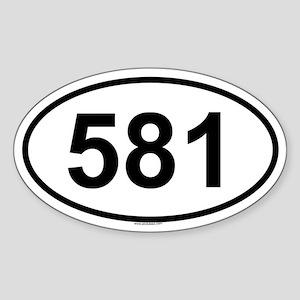 581 Oval Sticker