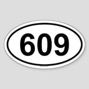 609 Oval Sticker