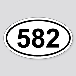 582 Oval Sticker