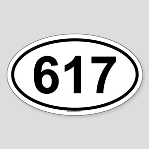 617 Oval Sticker