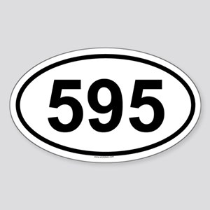 595 Oval Sticker