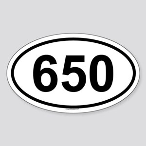 650 Oval Sticker