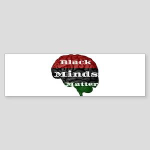 Black Minds Matter Bumper Sticker