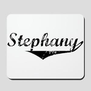 Stephany Vintage (Black) Mousepad