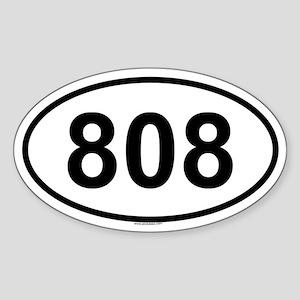 808 Oval Sticker