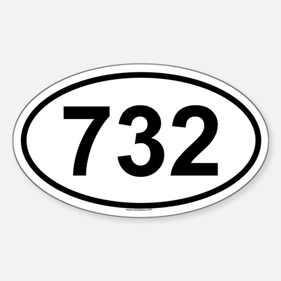 732 Oval Decal
