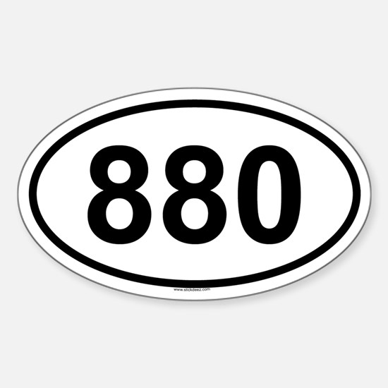 880 Oval Decal