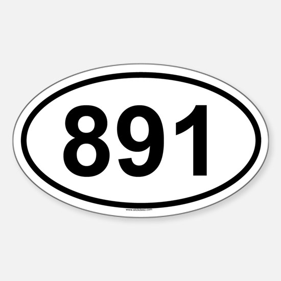 891 Oval Decal