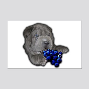 Blue Shar Pei Mini Poster Print